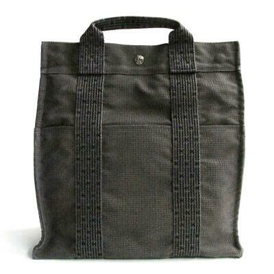 452a85bc4 Auth HERMES Herline Sac A Dos MM Backpack Rucksack Bag Canvas Gray Used  Vintage