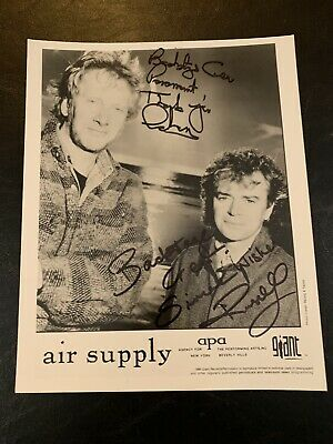 AIR SUPPLY AUTOGRAPHED / SIGNED PROMOTIONAL PHOTO MID 90's! PARAMOUNT THEATER