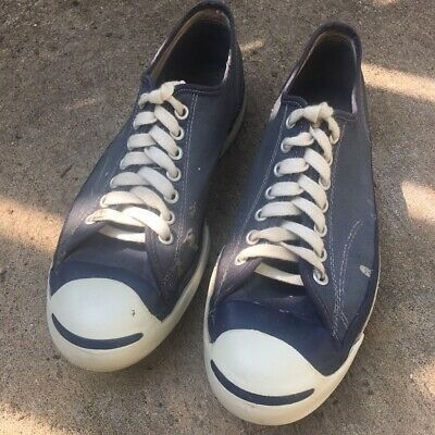 6d34b1f309c1 Rare Vintage Converse Low Rare Canvas Jack Purcell Blue Shoes Size 8 Made  in USA