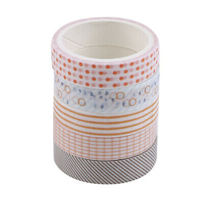 5 Pcs DIY Decorative Sticky Paper Adhesive Sticker Washi Tape New LD