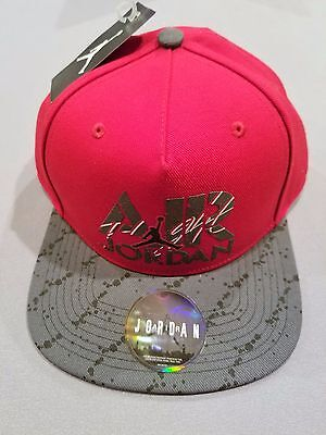 97facdcc327 Nike Air Jordan Stencil Snapback Hat Red Grey Cap Style 707249 687 New With  Tags