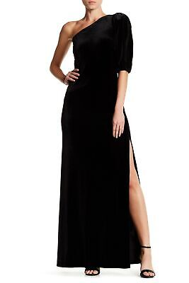 82506fd3466b ABS by Allen Schwartz NEW Black Women Size Medium M Gown Velvet Dress $380-  #