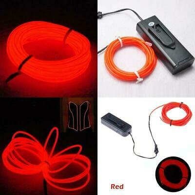 TopYart Neon LED Light Glow EL Wire Battery Pack String Strip Rope Tube Car Danc