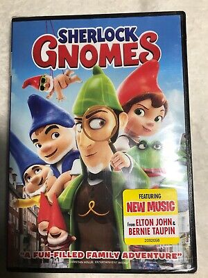 Sherlock Gnomes DVD New 2018 Free Shipping