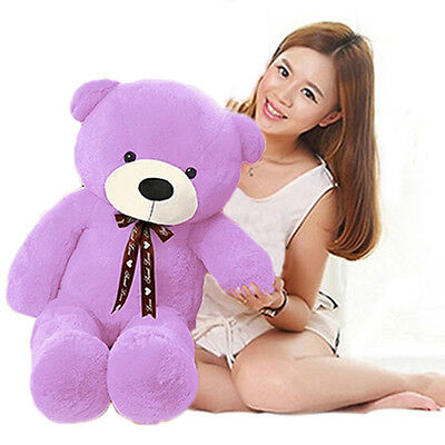 32'' Giant Huge Purple Teddy Bear Stuffed Animals Plush Soft Kids Toys Doll Gift