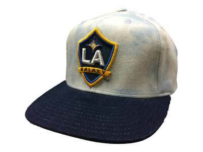 670c81f7d5c0c Los Angeles Galaxy Adidas Acid Wash Denim Structured Snapback Flat Bill Hat