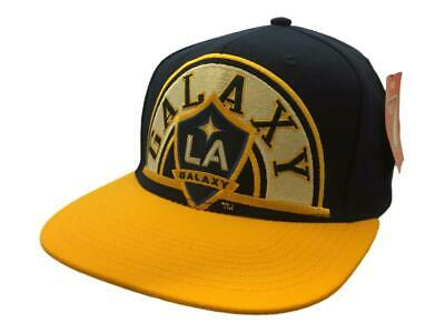 8e3af53b8b95d Los Angeles Galaxy Adidas Navy   Yellow Structured Snapback Flat Bill Hat  Cap