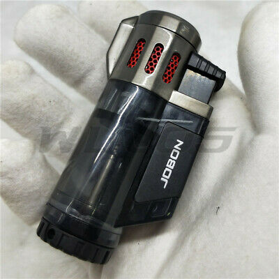 JOBON Metal High-Capacity Triple Jet Torch Gas Lighter for Pipe Cigar Cigarette