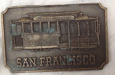 San Francisco  Belt Buckle Style Vintage American Retro Classic