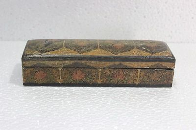 Antique Rare Old Vintage Burmese Wooden Jewellery Box Decor Collectible PV-79