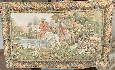 Antique French Tapestry - Aubusson Style 59 By 90 Cm