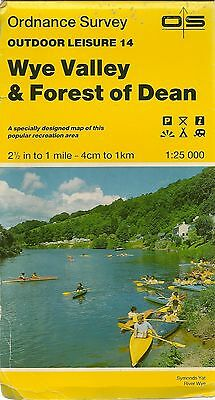 Ordnance Survey Outdoor Leisure Map 14 WYE VALLEY & FOREST OF DEAN - 1988