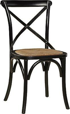 Pair Bentwood Dining Chairs  Armless Side Chairs  Glossy Black Birch Wood
