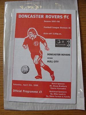 04/04/1998 Doncaster Rovers v Hull City [Last League Season] . No obvious faults