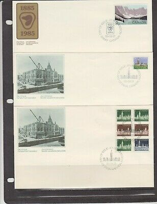 Canada FDC's 1985,Definitive Covers ( 6 )