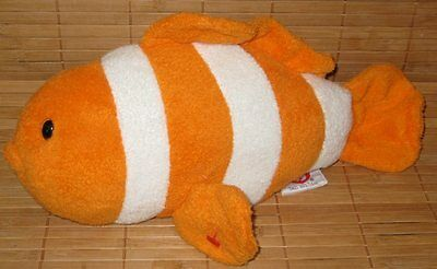 a6a17e09 Ty Pluffies Gilly Clownfish Orange & White Plush Baby Lovey Toy 2007 Clown  Fish