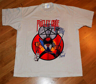 Hot Vintage Rare Motley Crue Shout At The Devil Shirt Gildan Top Reprint