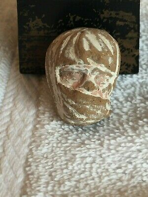 Diminutive Ancient Terracotta Graeco Roman FEMALE Head with NIQAB Fragment 1""