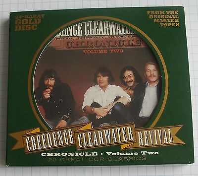 CREEDENCE CLEARWATER REVIVAL - Chronicle Vol.2 20 Greatest Hits 24 KARAT GOLD CD