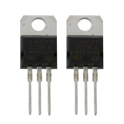 2 Pcs 1.2-37V 1.5A Positive LM317T AU 22 Paquet regulateur de tension G9X3