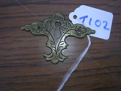 Antique Brass Escutcheon (T102)