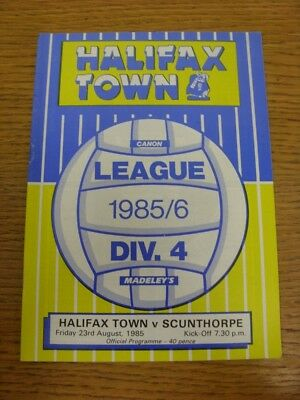 23/08/1985 Halifax Town v Scunthorpe United  . Thanks for viewing this item offe