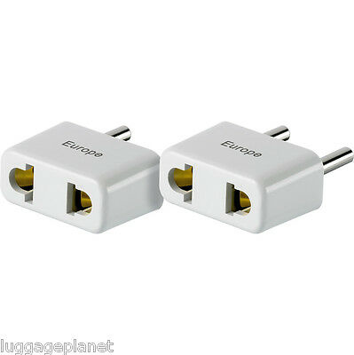 Designgo Lot Of 2 Us a Europa Non-Grounded Adaptador Enchufe 371 para Uso