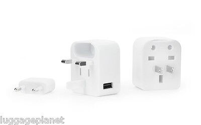 Kikkerland World Adapter Block W / USB Port 150 Länder Kompatibel Ul07