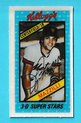 1980 Kelloggs 3 D Super Stars 38 Lee Mazzilli New York