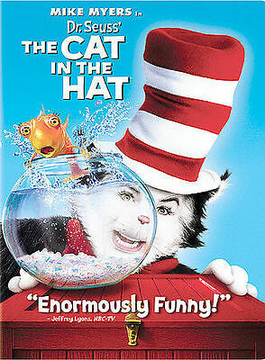 Dr. Seuss The Cat in the Hat (DVD, 2004, Widescreen Edition) Free Ship #0319BV