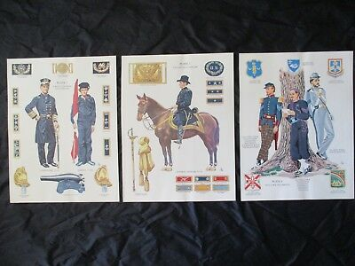 Civil War Union Uniforms, Insignia's, Swords, Naval, Ranks, Artillery - FRAME IT