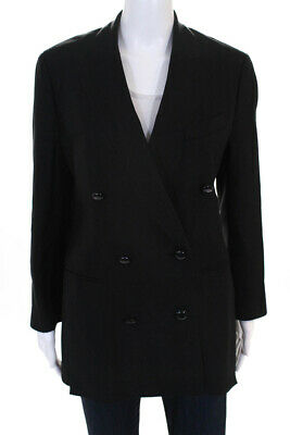 e04f8759aac 3.1 Phillip Lim Womens Double Breasted Side Slits Blazer Jacket Black Size 6
