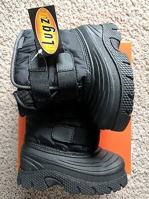 LUGZ Flurry Toddler BOYS Snow CLEARANCE!! NEW Winter Boots in Black Size 9