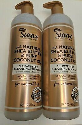 Lot of 2 Suave Professionals Natural Shea Butter & Pure Coconut Oil Shampoo