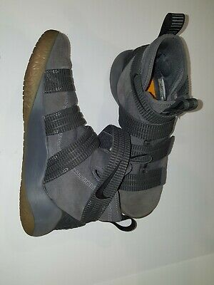 8506939abb43 NIKE LEBRON SOLDIER XI Dark Grey Gum Basketball Shoes 897646-003 ...