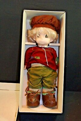 """Vintage 17"""" Precious Moments Soft Body 1994 Doll Erich New In Box"""