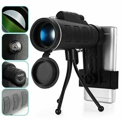 40X60 Mobile Phone Mirror HD Optical Zoom Clip on Camera Lens Telescope Spotting