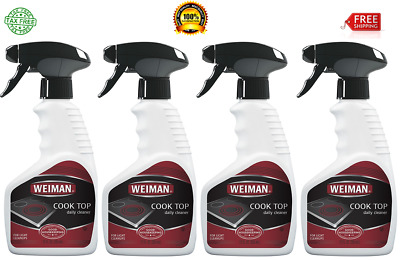 Weiman Daily Cooktop Heavy Duty Cleaner & Polish Glass/Ceramic 12 Fl Oz - 4 PACK