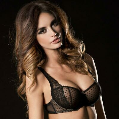 9a0e72880ffb NEW SEXY SHEER Bra Floral Lace Full Busted Caprice Fashion Lingerie ...