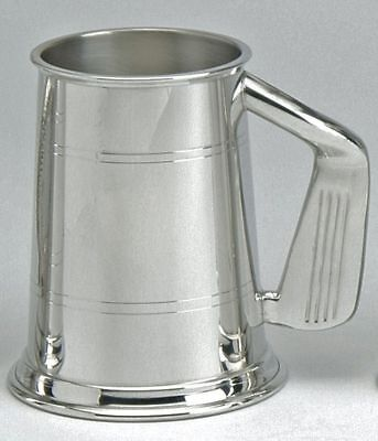 Pewter 1pt Golf Club Handled Tankard