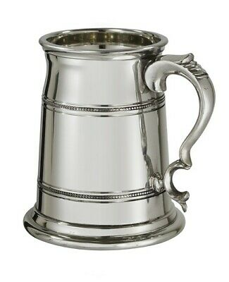 Pewter Extra Heavy 1Pint Old London Tankard In Silk Lined Box