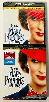 Mary Poppins Returns (4K Ultra HD+Blu-ray+Digital) BRAND NEW FACTORY SEALED