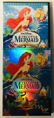 Disney The Little Mermaid (DVD 2-Disc Set) Platinum Edition BRAND NEW SEALED
