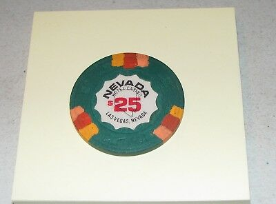 Rare 2nd R-5 $25 Las Vegas Nevada Hotel Green w/ 3 Pch 3 Org 3 Pnk - Casino Chip