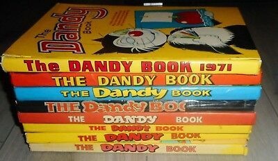 Lot Of 8 The Dandy Comic Annuals , 1971 To 1997