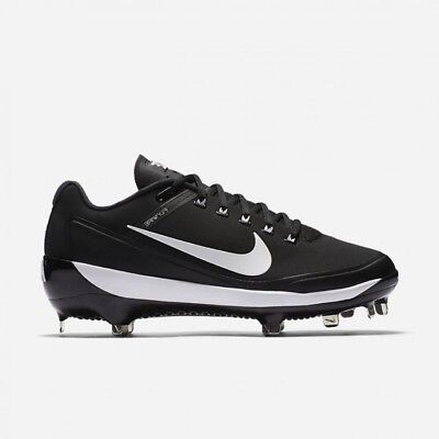 online store c9903 963f5 Nike Air Clipper 17 Baseball Cleats Metal Baseball Cleats Black+White Men s  12