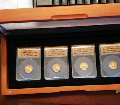 2009-S Lincoln Cent Set Of 4 Anacs Proofs Pr70 Dcam Bicenten In Cherry Wood Case