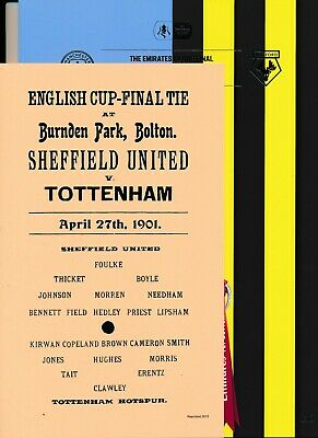 FA CUP FINAL PROGRAMME 2019 Manchester City v Watford + FREE 1901 Cup Final prog