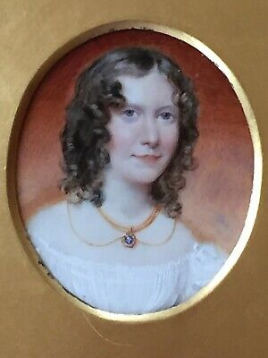 Fine Early 19th Century English School Portrait Miniature of a Young Girl