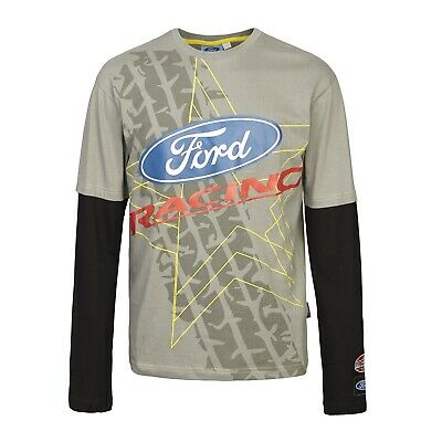 T-Shirt 2939 Rally Cross Longsleeve OMSE Ford Fiesta Extreme NEW Grey Black
